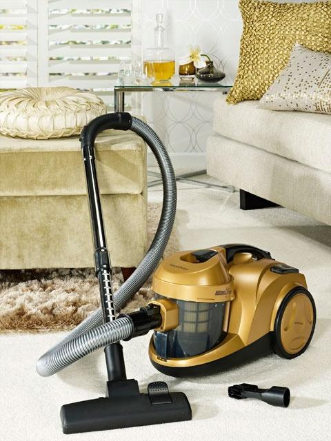 HomeChoice Vintage gold cyclone vacuum cleaner