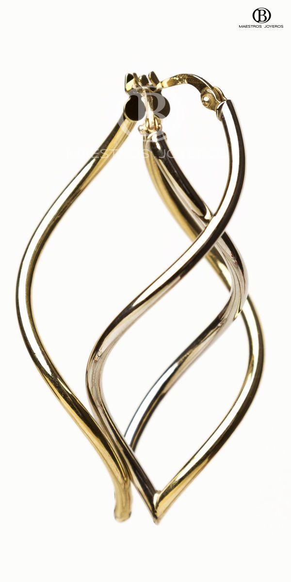 Arracadas de oro de 10k y 14k. ----------------------- 10k and 14k gold hoops.