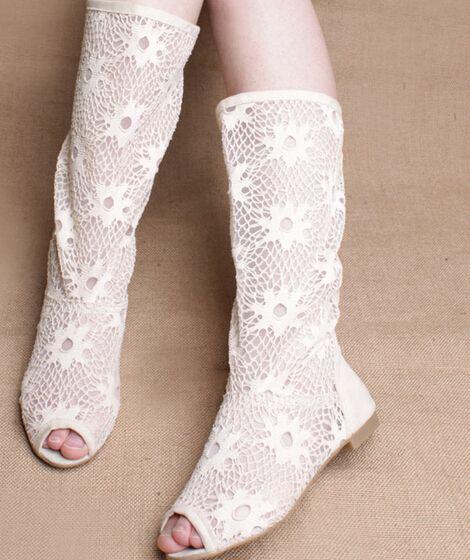 2014 spring and summer bud silk screen surface hollow low-heeled boots Tall boots single fish head size us5-us9 //   Цена: $ US $20.94 & Бесплатная доставка //    #fashionmartonline #мода #стиль