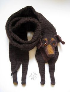 free crochet dog scarf pattern - Google Search