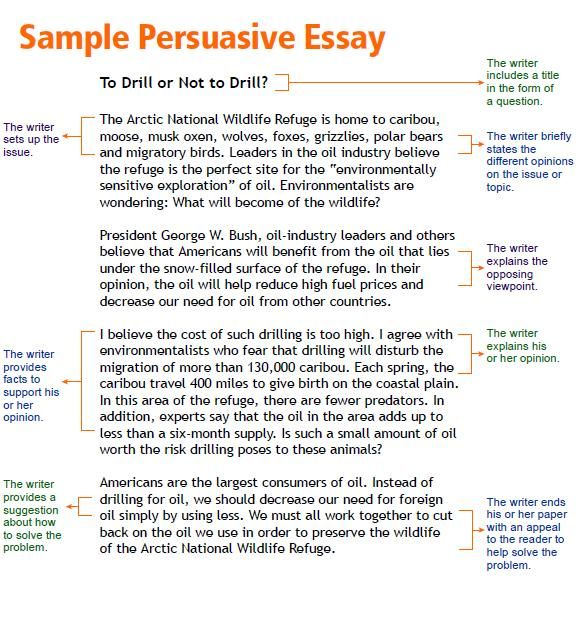 Sample Persuasive Essay Writing Example A Topics Format For