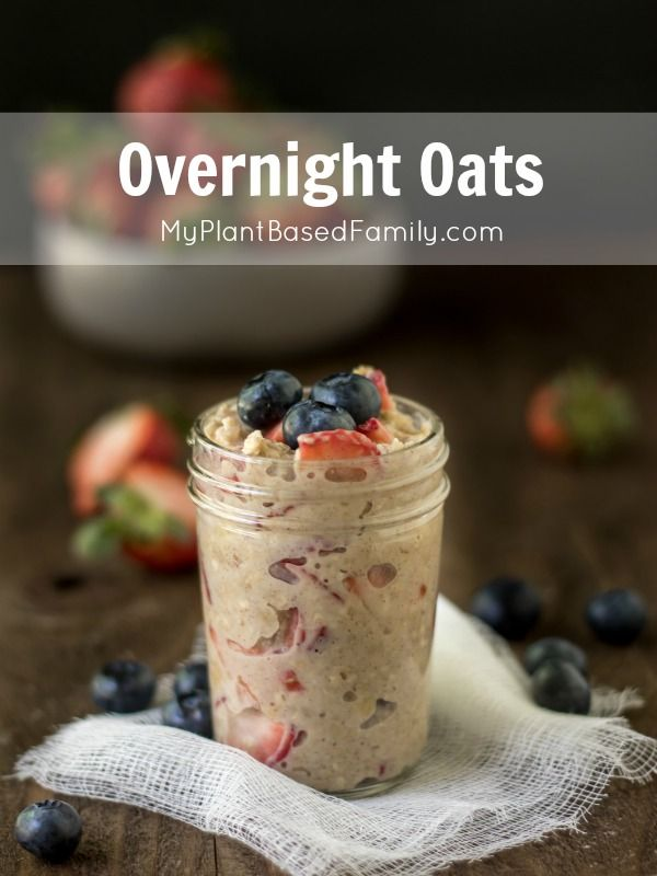 Overnight Oats are a healthy, plant-based option for busy mornings. Preparing Overnight Oats is even faster than cooking traditional oatmeal.