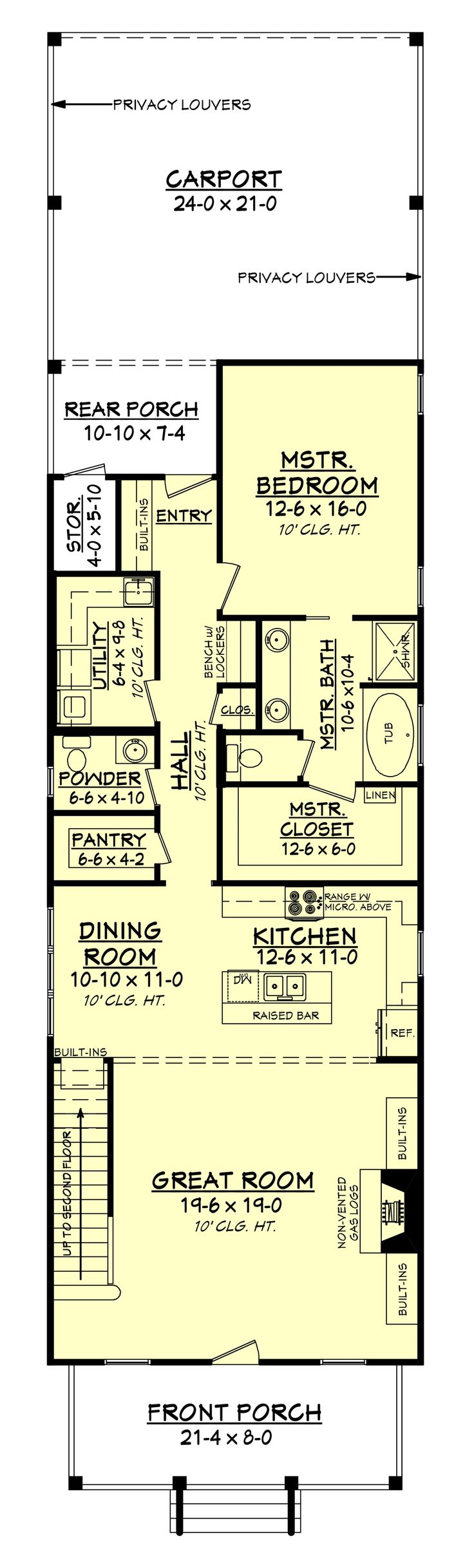 cottage style house plan 4 beds 25 baths 2172 sqft plan 430 - Small Cottage House Plans