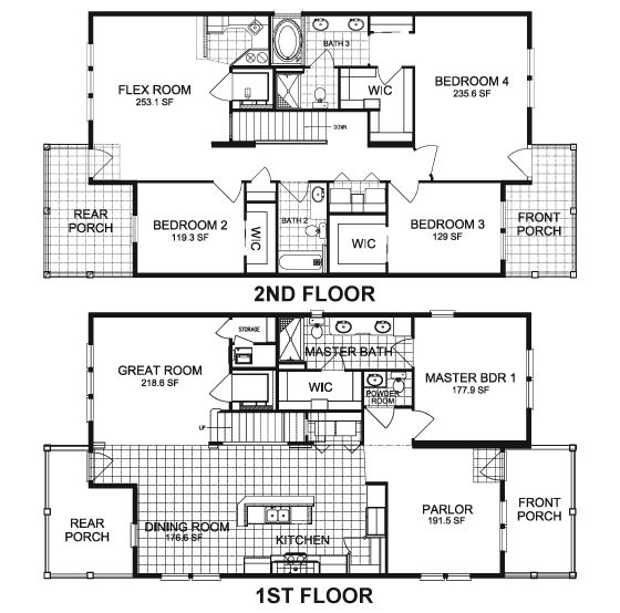 Capri 2408 sq ft manufactured home floor plans in plant for Capri floor plan