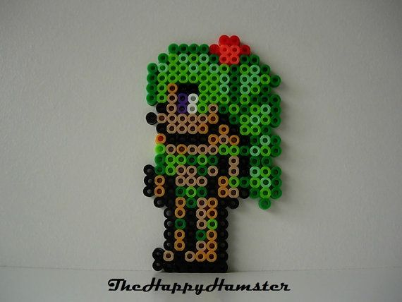 Perler Bead Terraria Dryad Ironed On Both Sides For Extra Durability 4 1/2 High