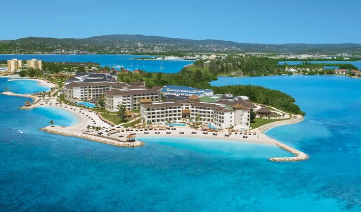An aerial view of Secrets Wild Orchid resort in Montego Bay, Jamaica