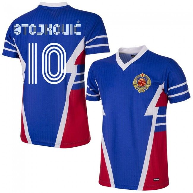 Camiseta Retro de Yugoslavia 1990 + Stojkovic 10 (Dorsal Estilo Fan)   yugoslavia   a624a3ca2