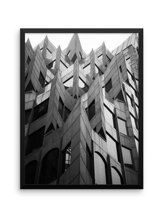 Points Photo Print | Wall Art | Cheap Art Prints | Large Wall Art | Architecture | Urban | Home Decor | Black & White Photography Print