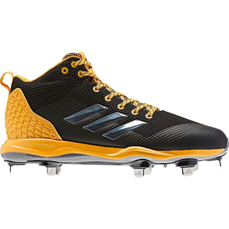 adidas Men\u0027s Poweralley 5 Mid Metal Baseball Cleats, Size: 11.0, Black