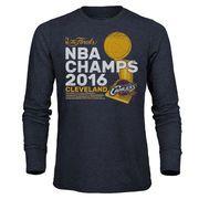 Men's Cleveland Cavaliers Majestic Threads Gray 2016 NBA Finals Champions Tri-Blend Long Sleeve T-Shirt