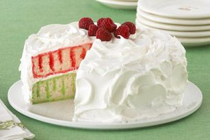 Holiday Poke Cake recipe - Get an answer ready. Everyone will want to know how you did the stripes. Hope Santa doesn't find out if you fib….
