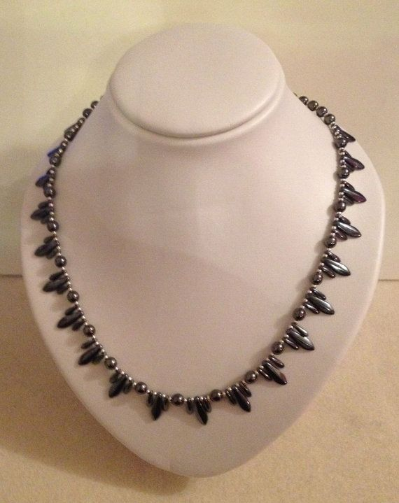 Gunmetal Grey Art Deco Inspired Beaded by JewelleryByJanine, £20.00