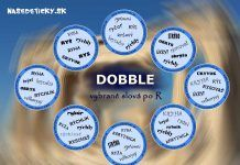 Hra DOBBLE – vybrané slová po R