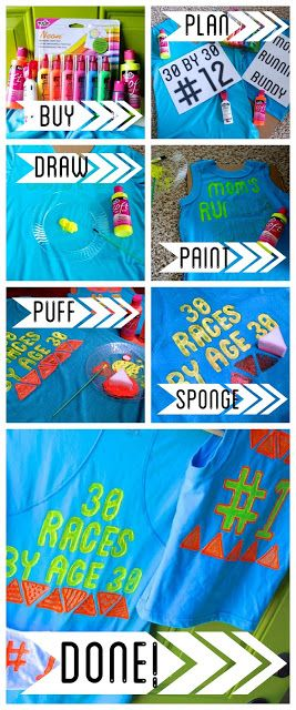 "DIY Tulip Puff Paint ""30 by 30"" Race Shirt"