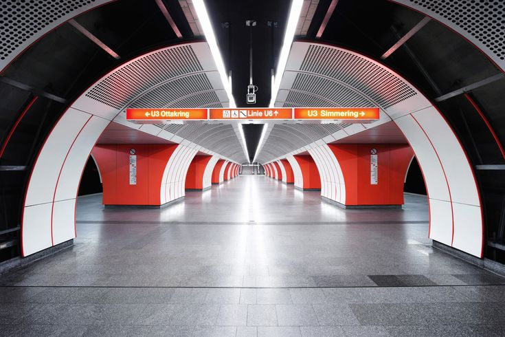 Nick Frank's images of empty subway stations are imbued with a sense of surreal beauty.