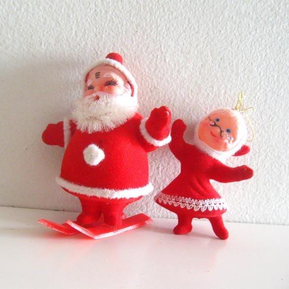 Lot Of 5 Vintage Christmas Decorations Kitsch Santa Claus: 41 Best Images About Childhood Christmas Memories On