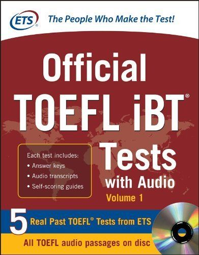 Official TOEFL iBT Tests with Audio (McGraw-Hill's TOEFL iBT) by Educational Testing Service. $23.76. Publisher: McGraw-Hill; 1 edition (November 20, 2012). Edition - 1. Publication: November 20, 2012. Save 34%!