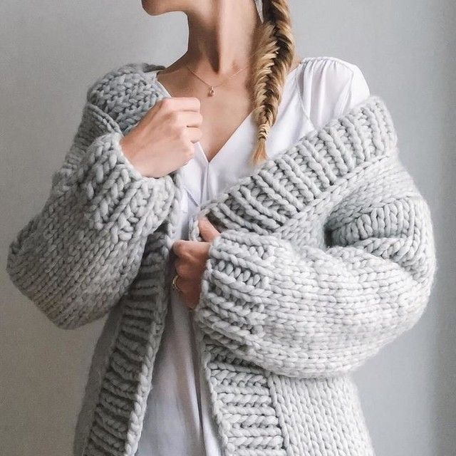 the comfiest cardigan ever. 100% chunky wool from We Are Knitters