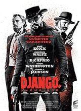 Django unchained, de Q.Tarantino, 2013. Dans le sud des Etats-Unis, avant la guerre de Sécession, le Dr Schultz, chasseur de primes, fait l'acquisition de Django, un esclave, pour l'aider à traquer les frères Brittle, les meurtriers qu'il recherche. Schultz promet à Django de lui rendre sa liberté lorsqu'il les aura capturés. Alors que les deux hommes pistent les Brittle, Django n'oublie pas son seul but : retrouver sa femme dont il fut séparé à cause du commerce des esclaves. Cote: DVD FIC…