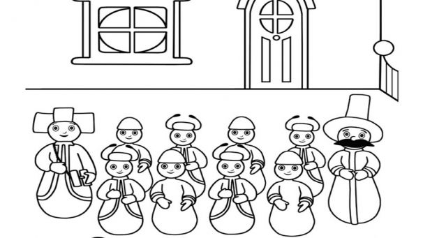 pontipines coloring pages - photo#1