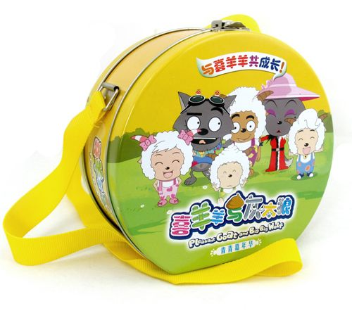 This lovely lunch tin box works as a very attractive gift tin pack for Children's cartoon plays which can hold up to 10 DVD discs. Nice printing, safe locks and high quality colorful strap makes this DVD tin a good keepsake with childrens for a long time in their daily life.