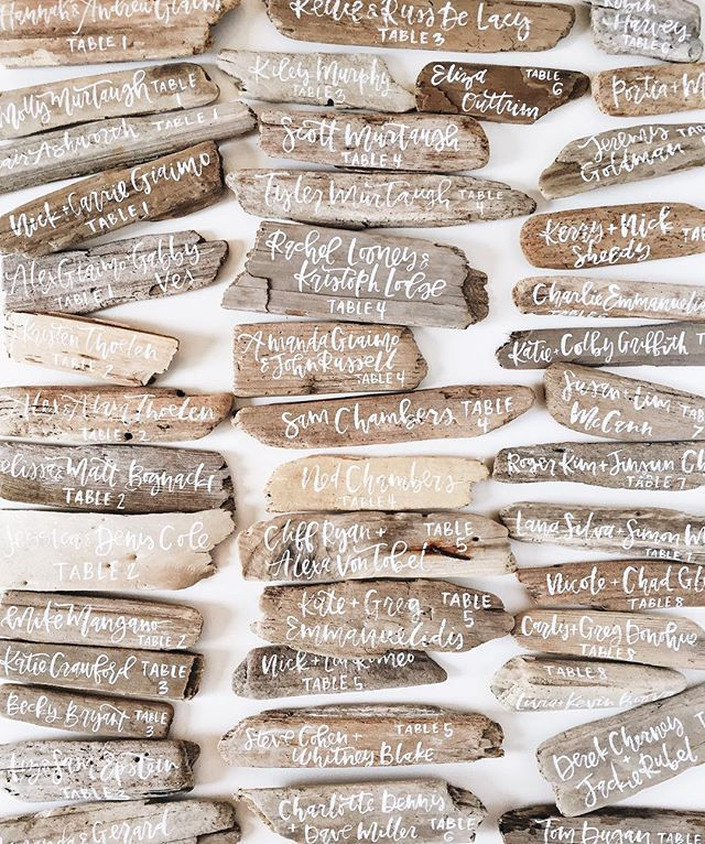 DRIFTWOOD name tags! Oh, my heart!!