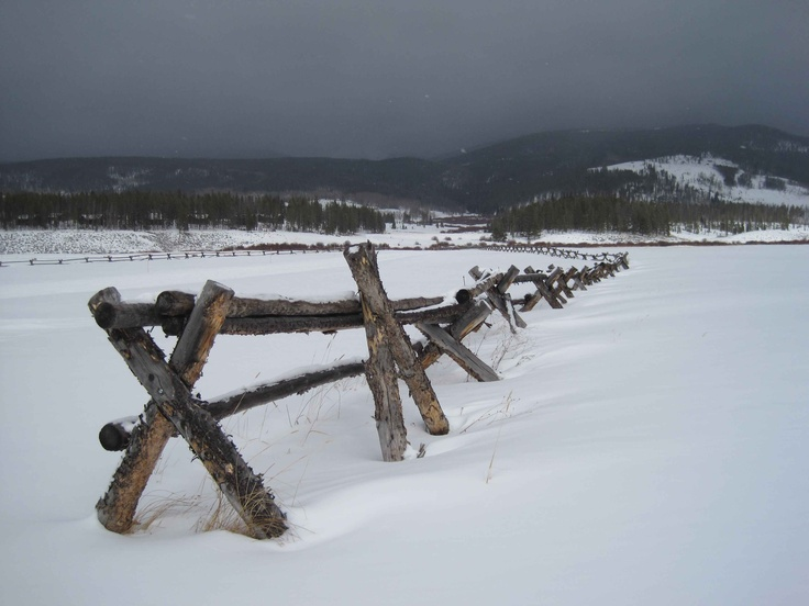 country rail fence winter - photo #15