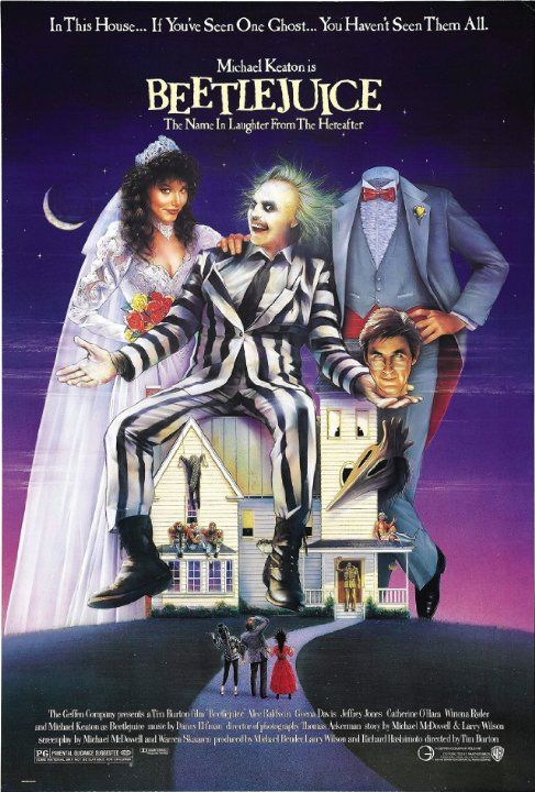 Beetlejuice (1988): Humour, ghosts, monsters, a dead man with a shrunken head, and Michael Keaton. Just brilliant!