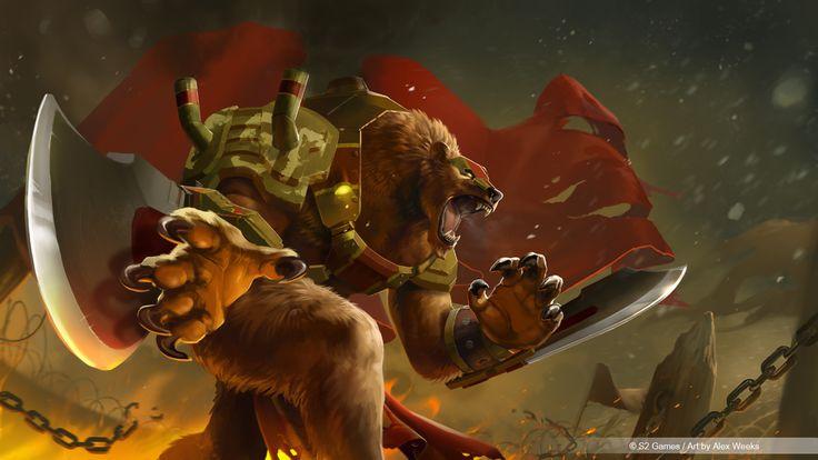 Heroes of Newerth -  Russian Battle Bear Predator by alexweeks