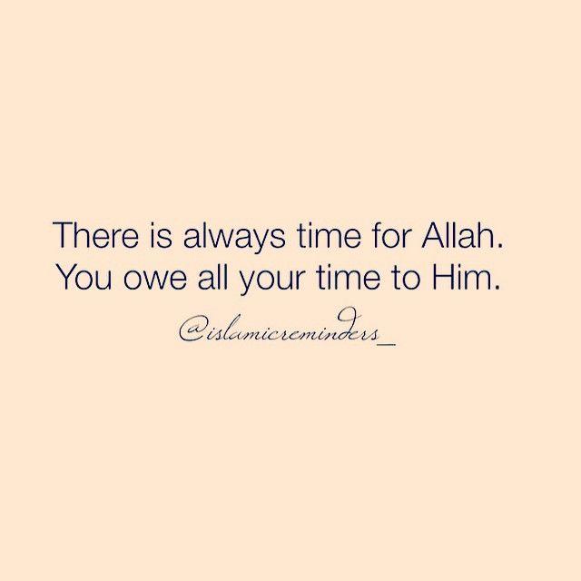Go towards Allah