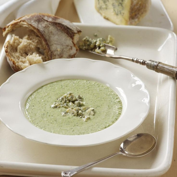 Broccoli and Blue Stilton soup, a delicious recipe from the new M&S app.
