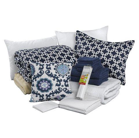 navy metro dorm comforter college beddingdorm