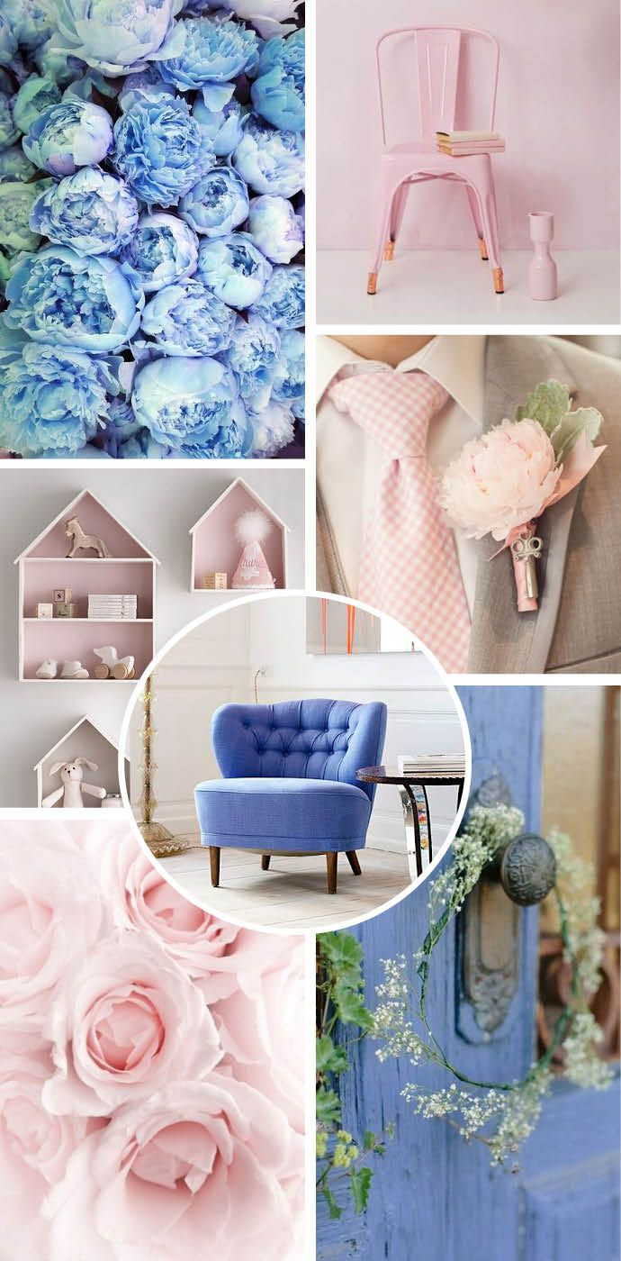 Pantone Colour of 2016. Rose Quartz and Serenity. Wedding inspiration ...
