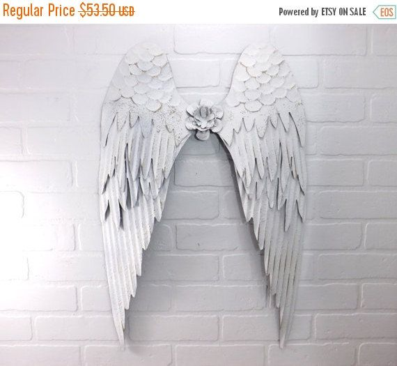 Fourth of July SALE White Angel Wings /Angel Wings / Wall Angel Wing Decor / Guardian Angel / Choice Color / Spiritual Decor