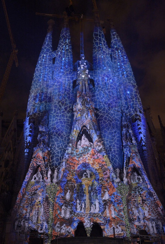 Sagrada Familia with colour