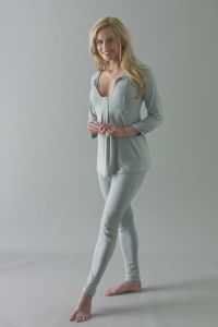 Om Long Sleeve Yoga Top £49.99 The Om yoga top is a long ruched sleeved empire line cut top with a keyhole nec...