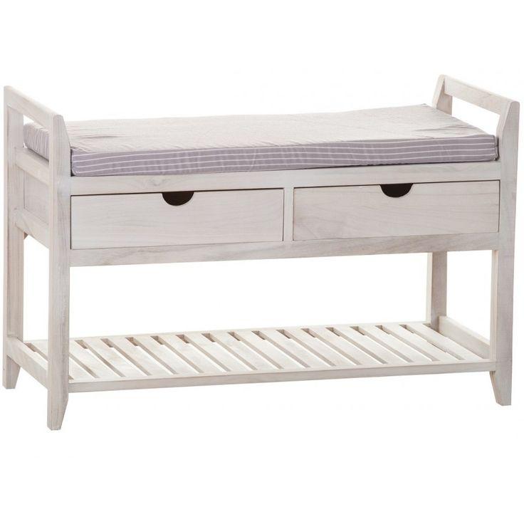 Ławka z szufladami Palida Aluro to połączenie praktyczności wraz z przepięknym prowansalskim stylem. Posiada ona miękkie siedzisko, a przestrzeń pod spodem została wykorzystana na dwie szufladki oraz na półkę, która może posłużyć na przykład jako półka na buty.