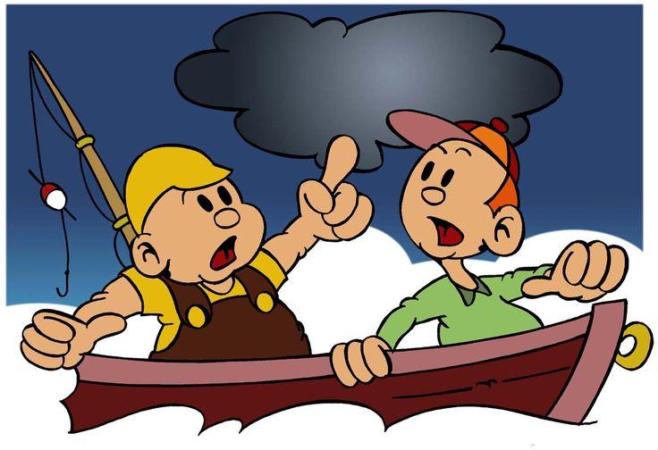"""""""Snel naar de kant en een veilige schuilplaats zoeken, het is gevaarlijk om met onweer op een open boot op het water te zijn"""""""