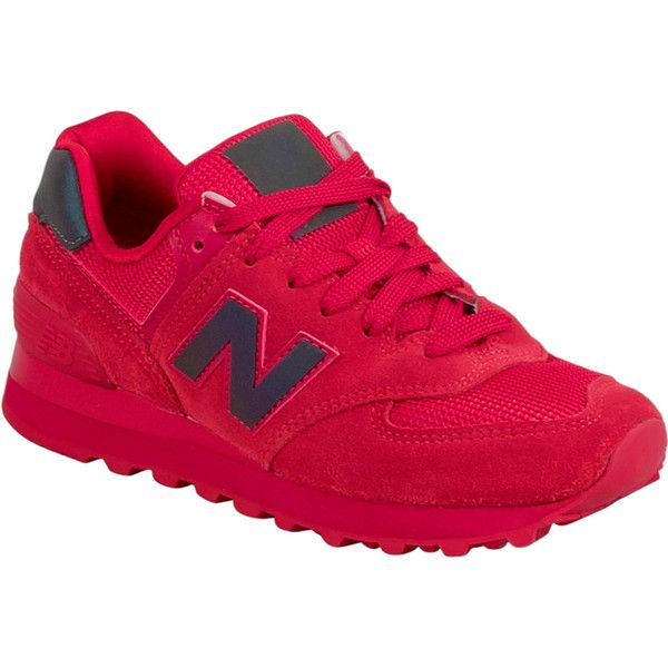 New Balance Urban Twilight Women's Low-Top Sneaker F Sneaker ($80) ❤ liked on Polyvore featuring shoes, sneakers, red, urban sneakers, red suede sneakers, cushioned shoes, breathable shoes and new balance