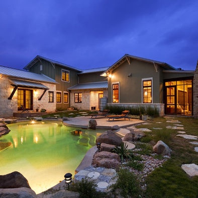 Exterior design texas hill country and texas on pinterest for Hill country design