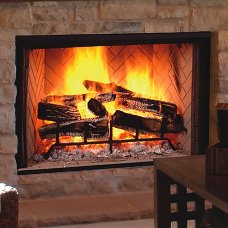 84 best wood burner fireplace images on pinterest fire for Wood stove insert for prefab fireplace