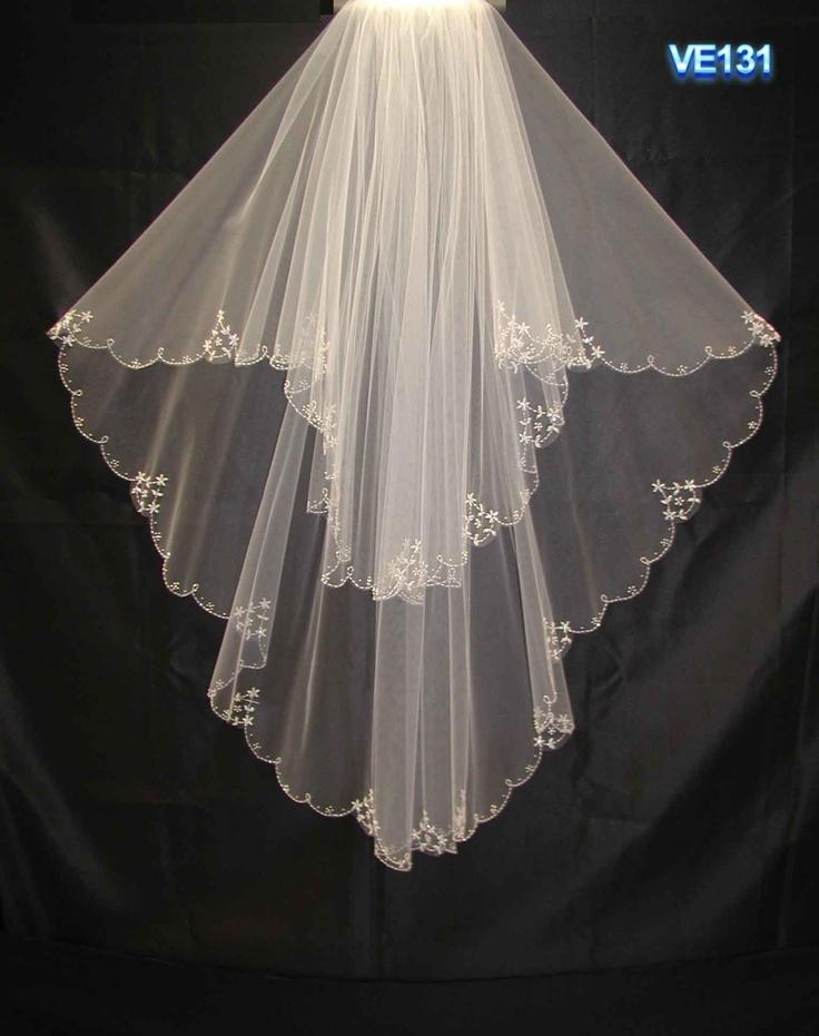 71 best wedding veils images on pinterest wedding veils for Long veils for wedding dresses
