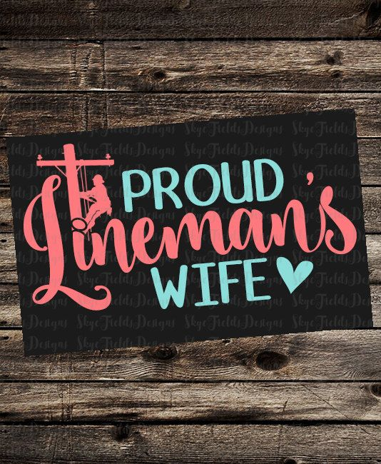 Proud Lineman's Wife SVG JPG PNG Studio.3 Silhouette by SkyeFields