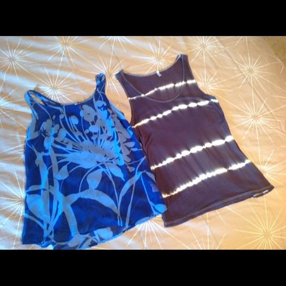 OLD NANY / AUDREY bundle Size XS . Audrey tank has a small hole at bottom ( just noticed it as I was putting up for sale!! ) Old Navy Tops Tank Tops