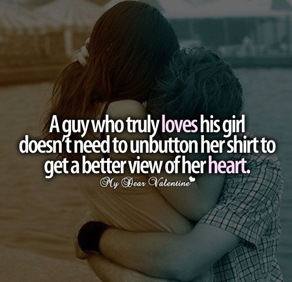 A guy who truly loves his girl ...