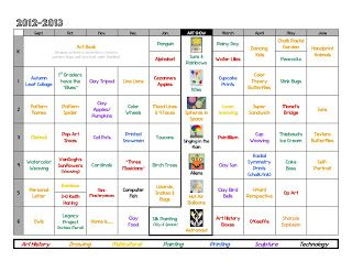 Art Lessons: Year at a Glance......Beyond ROY G. BIV: 3 Ways to Organize Now, for Next Year