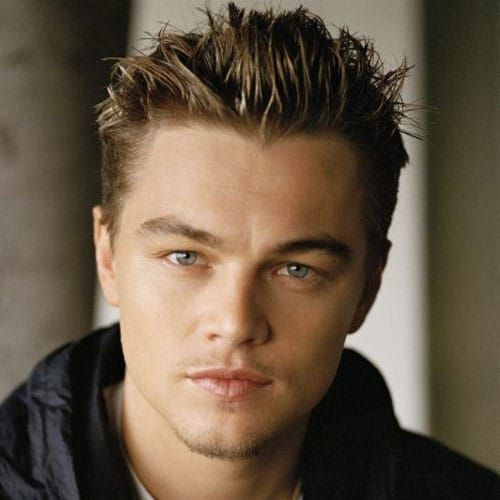 Young Leonardo Dicaprio Spiked Haircut Leonardo Dicaprio Hair Young Men Haircuts Thin Hair Men
