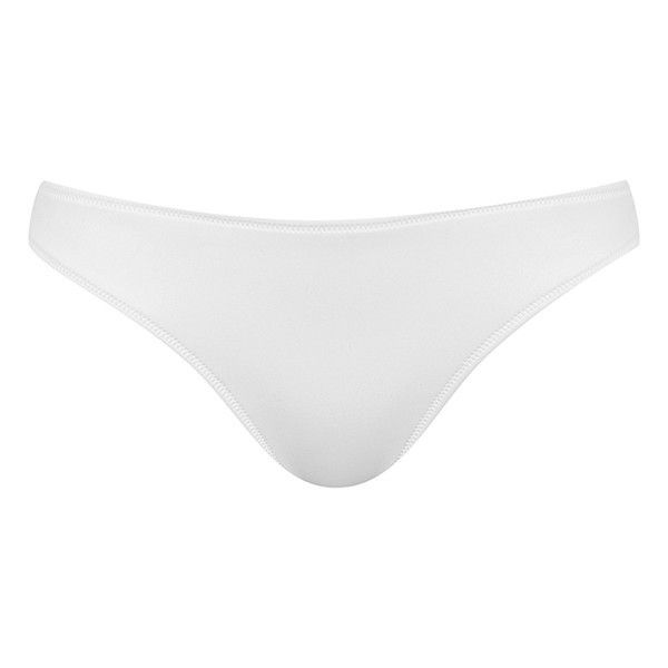 Women's Kendall + Kylie At Topshop Bonded Neoprene Bikini Bottoms ($35) ❤ liked on Polyvore featuring swimwear, bikinis, bikini bottoms, bikini, white, high rise bikini bottom, wet suit, bikini bottom, white bikini swimwear and bikini swimwear