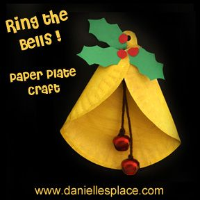 Paper plate Christmas Bell Craft for Kids www.daniellesplace.com: