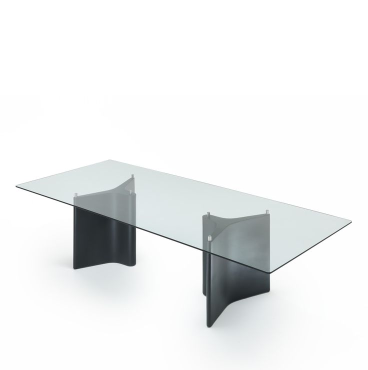 Segis | #Tee Table, Bartoli Design. Lots of combinations: bases offered in various configurations may be used with tops in different #materials, create a series of tables, desks, and large meeting tables which may also be custom made. Lacquered bases in white, red or grey. Tops in clear tempered glass, high pressure laminate, lacquered wood in scratch resistant finish, or wood veneer. Good luck!